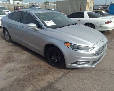 Salvage Silver 2017 Ford Fusion