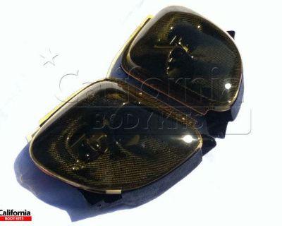 Cbk Carbon Fiber Cwes Headlight Housings & Yellow Lenses Mazda Rx-7 Fd3s 93-97 N