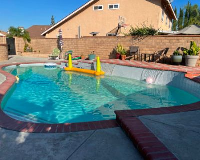 Sunny kool Pool with a Patio Made for Relaxation, Rowland Heights, CA