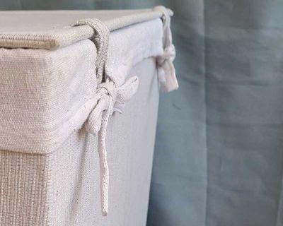 NEW Linen Cloth Laundry Hamper