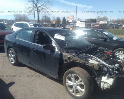 Salvage Black 2012 Ford Fusion