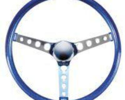 Vtg Style Blue Metalflake Steering Wheel Rat Hot Rod Custom Gasser Vw Bombs