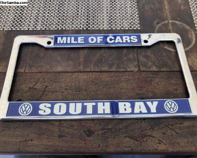 vw license plate frame