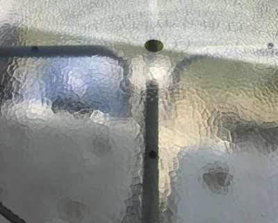 Glass patio table.