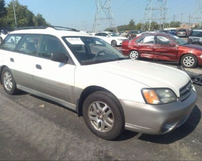 Salvage White 2003 Subaru Legacy Wagon