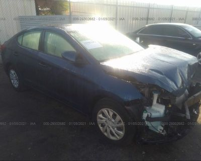 Salvage Dark Blue 2020 Hyundai Elantra
