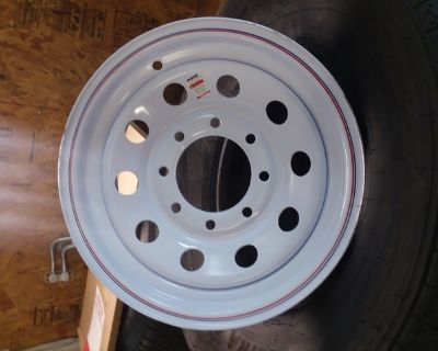 "New 8 Lug 16"" Chevy Dodge 3/4 ton Trailer Rim"