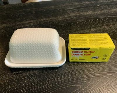 Butter dish. Holds a 1lb block.