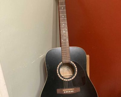 Art and Lutherie cedar black acoustic guitar