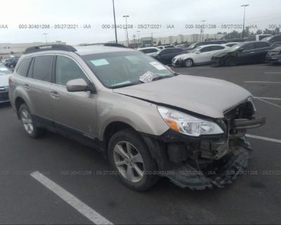 Salvage Gray 2014 Subaru Outback