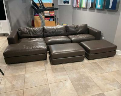 Donate Leather Sectional Sofa