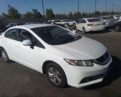 Salvage White 2013 Honda Civic Sdn