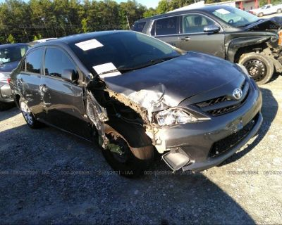 Salvage Gray 2012 Toyota Corolla