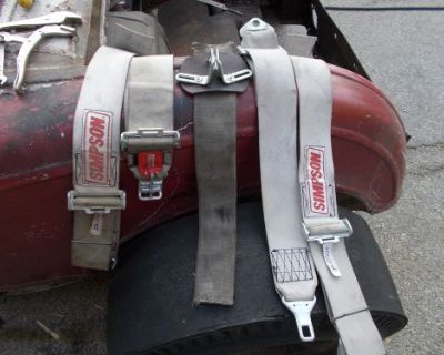 Simpson Racing Seat Belt Harness Hot Rod Gasser 32 Ford Hemi 55 Chevy 41 Willys