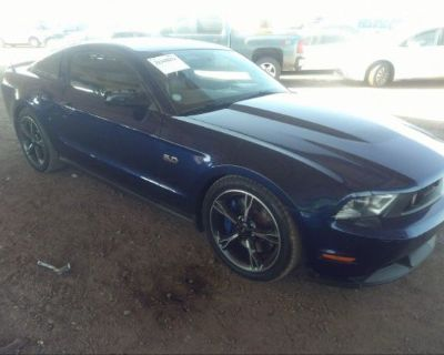 Salvage Blue 2011 Ford Mustang