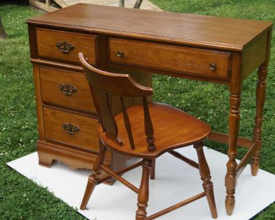 Wood Student Desk with Chair