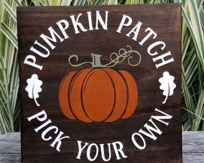 Handmade wood Pumpkin patch sign