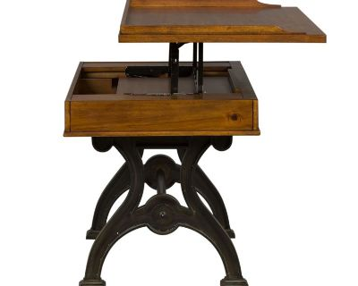 desk French industrial lift top