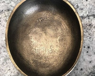 Metal bowl from Pottery Barn