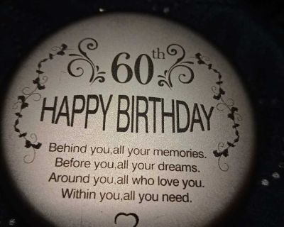 60th b-day compact mirror