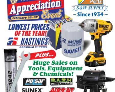 S&W Suuply Customer Appreciation Event Feb 22-27