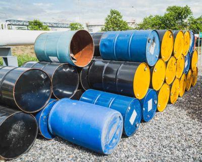 55 gallon burn barrels. Cleaned &. refurbished