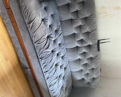 Blue hideabed couch