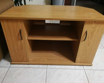 Gorgeous wood tv stand and storage