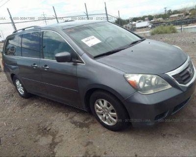 Salvage Gray 2010 Honda Odyssey