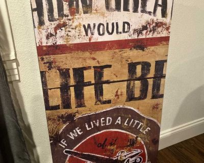 Wall decorative frame- great life