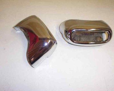 1956 Pontiac (re-chromed) Dual Exhaust Rear Bumper Tips A+ (used Oem Pair)