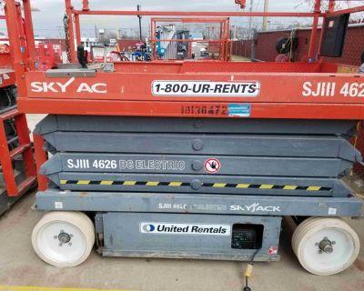 2013 SkyJack 26' Scissor Lift -- Wide -- United Rentals