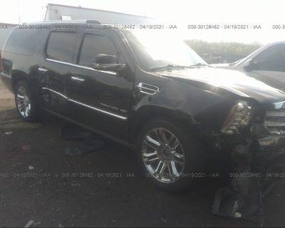 Salvage Black 2012 Cadillac Escalade Esv
