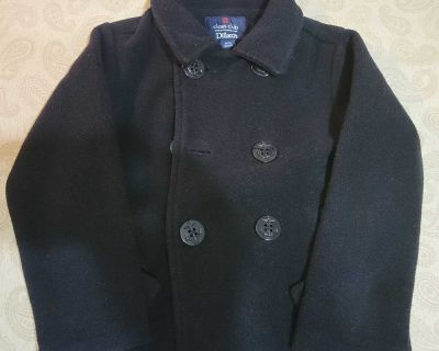 Boys 4/5 Black Coat
