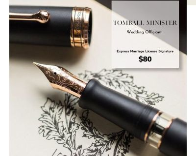 Express Marriage License Signature