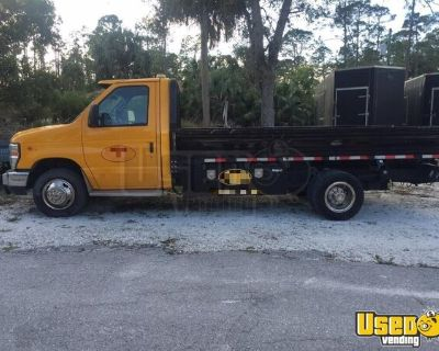 Road Ready 2010 Ford E450 14' Flatbed Diesel Truck in Great Shape