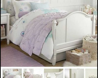 Pottery Barn Kids Madeline twin bed in excellent shape. Mattress not included. $350.