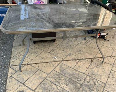 Free outside table and four chairs