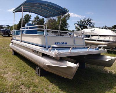 1984 Crest Crest II Pontoon Boats Saint Helen, MI