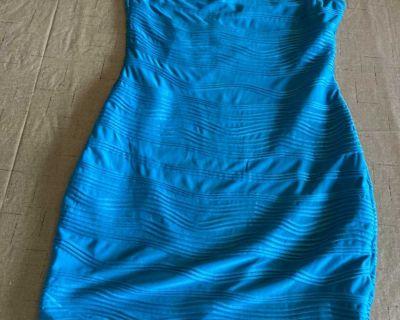 Women s Clothing Blue Sleeveless Dress Size L New