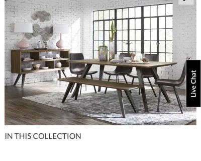 Havertys Dining Room Table (Walnut) & 4 Chairs