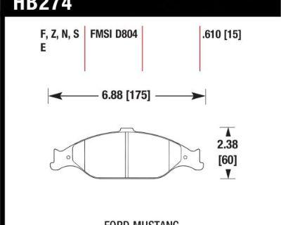 Hawk Performance Hb274f.610 Disc Brake Pad Fits 99-04 Mustang