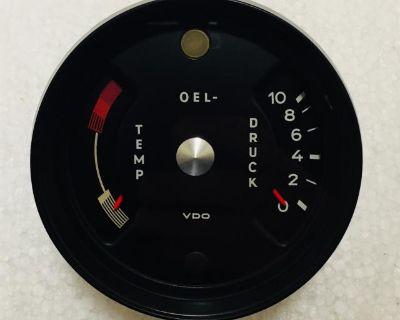 1970 Porsche 911 Oil Temp/Pressure Gauge (Restored
