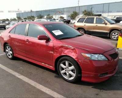 Salvage Red 2007 Toyota Camry