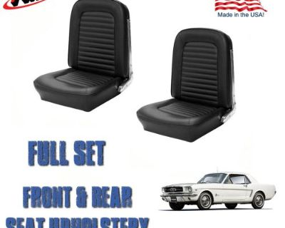 Front And Rear Seat Covers, Upholstery Black 1964-1965 Mustang