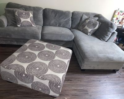 L sectional grey