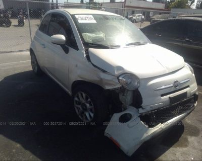 Salvage White 2017 Fiat 500