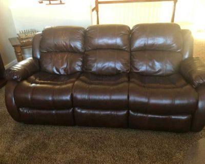 Donate! Leather Couch w/ two built in Recliners