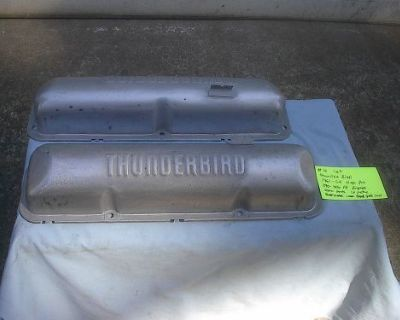 1958-1964 Ford 352-427 Primed Red Factory Thunderbird Valve Covers Galaxie