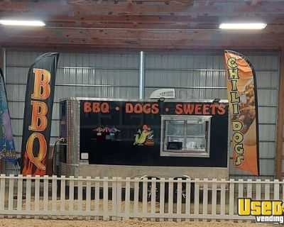 2021 - 8' x 14' Lightly Used Street Food Vending Concession Trailer